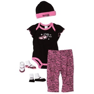 "Baby Essentials ""Little Diva"" 5 Piece Layette Set"