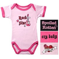 Luvable Friends Baby-Says Bodysuit - Wild Girl