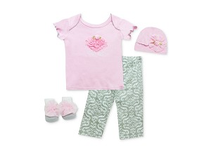 Baby Essentials Little Cutie 4 Piece Layette Set