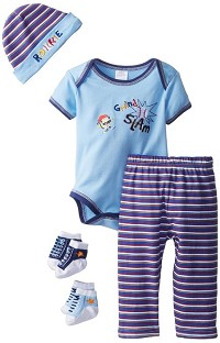 Baby Essentials 5-Piece Grand Slam Layette Gift Set