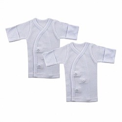 Baby Vision Preemie 2-Pack Long Sleeve Side Snap Shirts