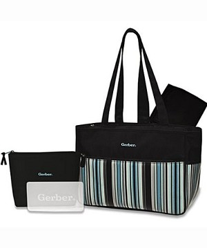 Gerber� 4-Pieces Diaper Bag Stripe Aplenty