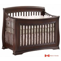Natart Bella 4 in 1 Convertible Crib in Cocoa
