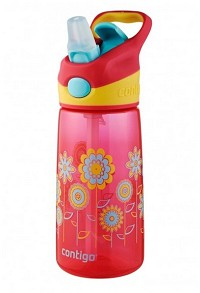 Contigo 14 oz. AUTOSPOUT® Kids Striker Water Bottle with Graphics, Cherry Blossom