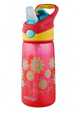 Contigo 14 oz. AUTOSPOUT� Kids Striker Water Bottle with Graphics, Cherry Blossom