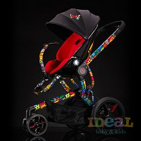 Quinny by Britto Moodd Stroller Pad Insert- Red