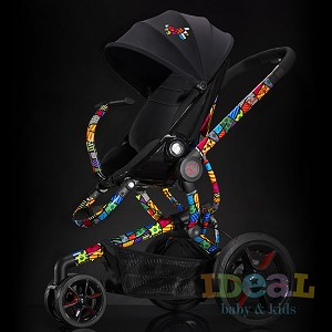 Quinny by Britto Moodd Stroller Pad Insert - Black