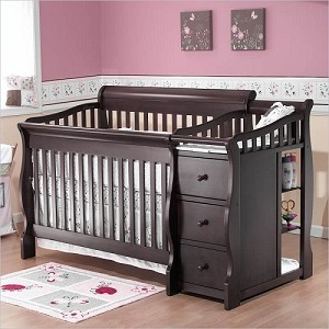 C&T International Tuscany Crib N More in Espresso