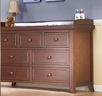 Sorelle Alex Double Dresser in Mocha Cafe