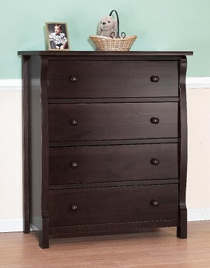 Sorelle Tuscany/Princeton 4 Drawer Chest in Espresso