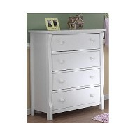 Sorelle Tuscany/Princeton 4 Drawer Chest in White