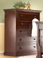 Sorelle Century 5 Drawer Chest in Espresso
