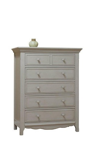 Lusso Nursery Ravenna 5 Drawer Dresser - Gray