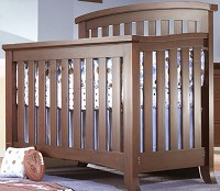 Sorelle Alex 4 in 1 Crib in Mocha Cafe