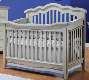 Lusso Nursery Ravenna Convertible Crib - Gray