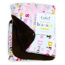 Cudlie Double Sided Blanket Printed-Sherpa Pink Sweet Dreams