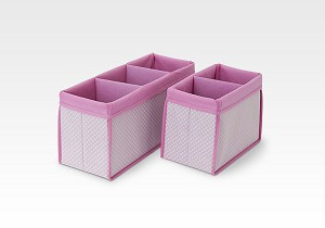 Delta Nursery Organizer 2-PC Set, Barely Pink