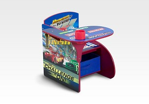 Delta Disney Cars Chair Desk with Storage Bin