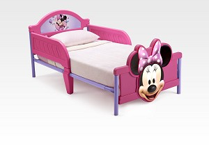 Delta Disney Minnie Mouse 3D Footboard Toddler Bed