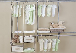 Delta 24 Piece Nursery Closet Set, Beige