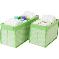Delta Nursery Organizer Set of Bins, Hush Green