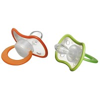 Evenflo Bebek 2 Pk Soft Rim Newborn Pacifiers, Large
