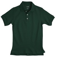 French Toast Pique Polo, Hunter Green