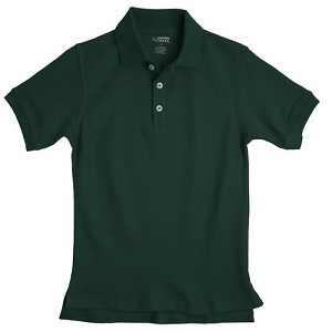 French Toast Interlock Polo, Hunter Green