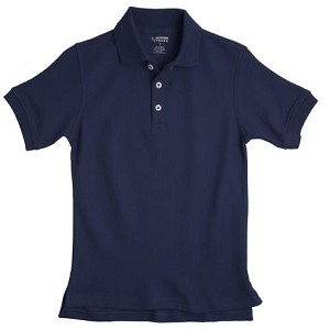 French Toast Pique Polo, Navy