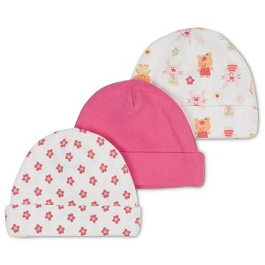 Gerber Baby Caps - Girl 0-6 Months - 3 Pack
