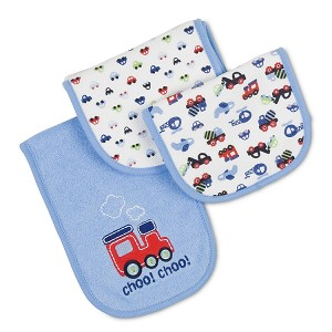 Gerber Terry Cotton Burp Cloths - Boy - 3 Pack