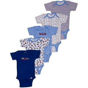 Gerber Short Sleeve Onesies� One Piece Underwear 0-3 months - Boy - 5 Pack