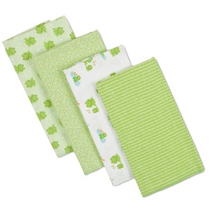 Gerber Brushed Flannel Burp Cloths - Neutral - 4 Pack
