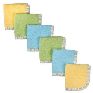 Gerber Woven Washcloths 6 Pack Neutral