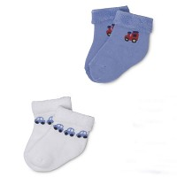 Gerber Baby Terry Socks - Boys 0-3 Months - 2 Pack