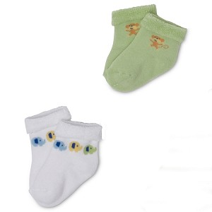 Gerber Baby Terry Socks - Neutral 0-3 Months - 2 Pack