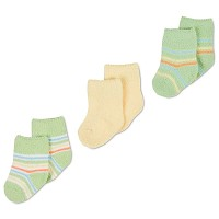 Gerber Baby Sock - Neutral 3-6 Months - 3 Pack