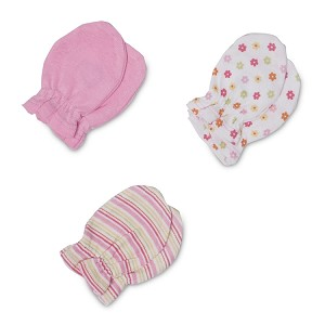 Gerber Baby Mittens - Girl - 3 Pack