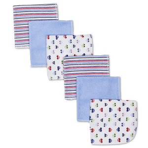 Gerber Terry Washcloths - Boys - 6 Pack