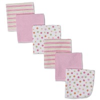 Gerber Terry Washcloths - Girl - 6 Pack