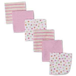 Gerber Terry Washcloths - Girls - 6 Pack
