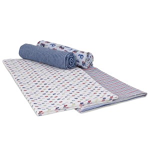 Gerber Brushed Flannel Receiving Blankets - Boy - 4 Pack