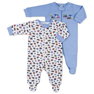 Gerber Boy 2 pk Zip Front Sleep 'N Play  3-6 Months