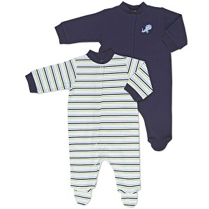 Gerber Snap Front Sleep 'N Play - Boys Newborn - 2 Pack