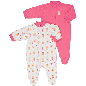 Gerber Baby Snap Front Sleep 'N Play - Girl- Newborn