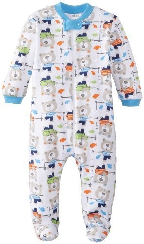 Lamaze Sleep 'n Play w/Zip  Boy Bear Print 6-9 Months