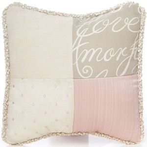Glenna Jean Love Letters Patchwork Pillow