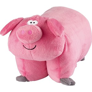 Go Travel Kids Pig Folding Pillow