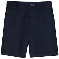 French Toast Toddler Boys Flat Front Adjustable Waist Short, Navy