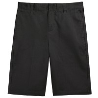 French Toast Adjustable Waist Shorts, Black